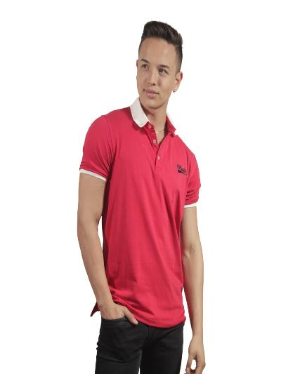 MARFIL--Camiseta Polo Hombre manga Corta Slim Fit Rojo Marfil Simp-exito. 20a4a52b24860