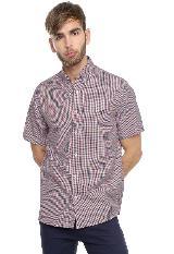 Camisa Manga Corta 18115-210 Cuadrito Rojo-Azul-Blancohombre|carulla.com