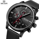 Reloj Megir MS2011 Impermeable Japonés Negro|carulla.com
