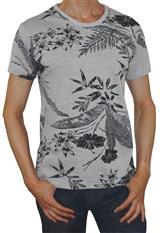 Camiseta estampado tropical Aranzazu slim cuello redondo|carulla.com