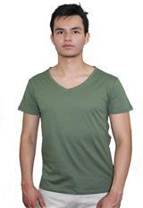 Camiseta slim Aranzazu cuello V unicolor|carulla.com