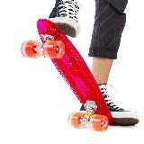 e8b0eda2e07 Patineta Skate Penny Luces Led Scooter Longboard RF 083