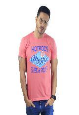 Camiseta Hombre manga Corta Slim Fit Rosado Marfil Hotrods carulla.com