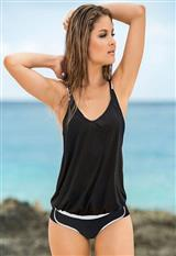 Bikini de Tres Piezas con Camiseta con Fajón carulla.com