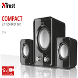 Speaker Trsut ziva 2.1 USB set negro 12W carulla.com