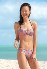 Bikini Strapless Estampado con Panty Doble Faz carulla.com
