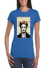 Camiseta para Dama Frida Newspaper Marca Joyfull carulla.com