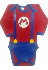 Body BABY MONSTER Mario Bros rojo algodón|carulla.com
