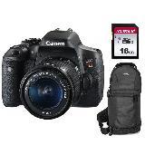 Cámara Canon T6i con lente 18-55mm + Memoria 16gb + Maletín carulla.com