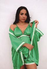 Pijama levantadora, blusa y short en satin con encaje|carulla.com